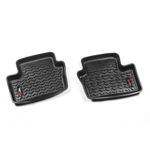 Rugged Ridge - Floor Liners, Rear, Black; 07-12 Caliber/07-14 Jeep Compass/Patriot