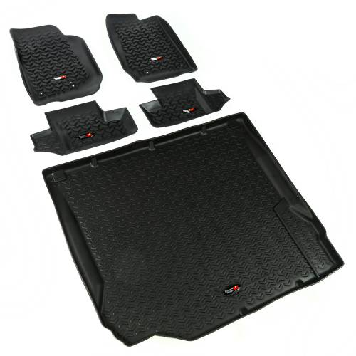 Rugged Ridge - Floor Liners, Kit, Black; 07-10 Jeep 2-Door Wrangler JK