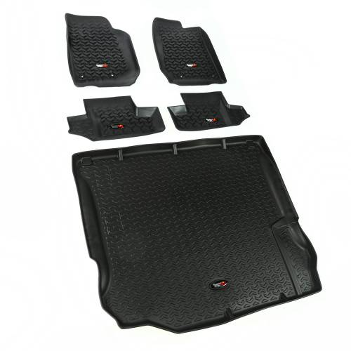 Rugged Ridge - Floor Liners, Kit, Black; 11-15 Jeep 2-Door Wrangler JK