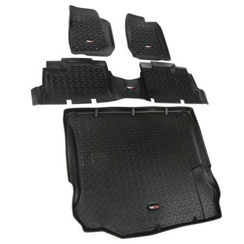 Rugged Ridge - Floor Liners, Kit, Black; 11-15 Jeep 4-Door Wrangler JK