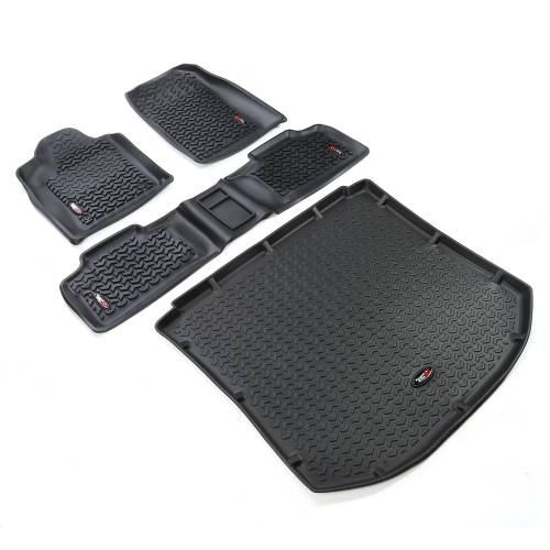 Rugged Ridge - Floor Liners, Kit, Black; 11-15 Jeep Grand Cherokee WK