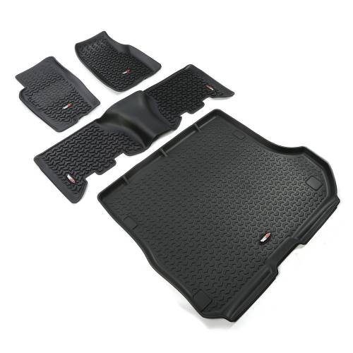 Rugged Ridge - Floor Liners, Kit, Black; 93-98 Jeep Grand Cherokee ZJ