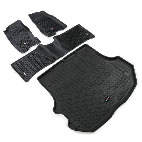 Rugged Ridge - Floor Liners, Kit, Black; 99-04 Jeep Grand Cherokee WJ
