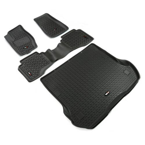 Rugged Ridge - Floor Liners, Kit, Black; 05-10 Grand Cherokee WK