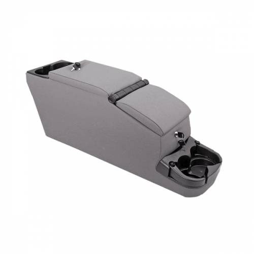 Rugged Ridge - Rugged Ridge Ultimate II Locking Console, Gray (1976-95) Jeep CJ/Wrangler YJ