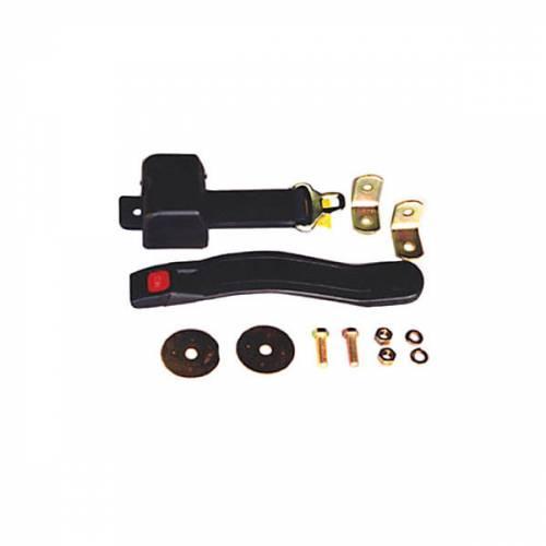 Omix-ADA - Lap Seat Belt, Black; 87-95 Jeep Wrangler YJ