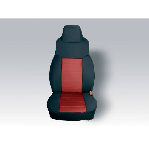 Rugged Ridge - Neoprene Front Seat Covers, Red; 97-02 Jeep Wrangler TJ