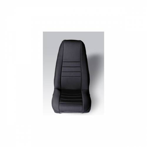 Rugged Ridge - Neoprene Front Seat Covers, Black; 76-90 Jeep CJ/Wrangler YJ
