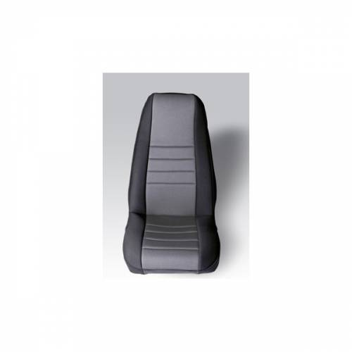 Rugged Ridge - Neoprene Front Seat Covers, Gray; 76-90 Jeep CJ/Wrangler YJ