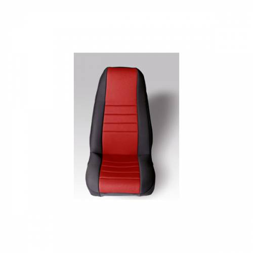 Rugged Ridge - Neoprene Front Seat Covers, Red; 76-90 Jeep CJ/Wrangler YJ