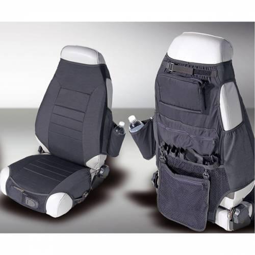 Rugged Ridge - Rugged Ridge Fabric Seat Protectors, Black (1976-06) Jeep CJ/Wrangler YJ/TJ