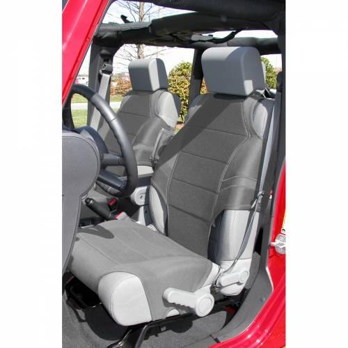 Rugged Ridge - Neoprene Seat Protector Vests, Gray; 07-15 Jeep Wrangler JK