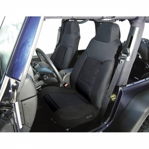 Rugged Ridge - Rugged Ridge Fabric Front Seat Covers, Black (1976-90) Jeep CJ/Wrangler YJ