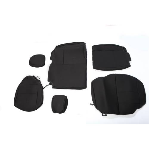 Rugged Ridge - Neoprene Rear Seat Cover, Black; 07-15 Jeep Wrangler Unlimited JK