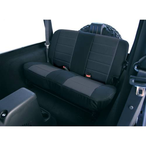 Rugged Ridge - Rugged Ridge Fabric Rear Seat Covers, Black (1980-95) Jeep CJ/Wrangler YJ