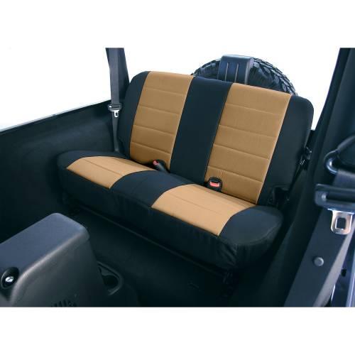Rugged Ridge - Rugged Ridge Fabric Rear Seat Covers Tan (1980-95) Jeep CJ/Wrangler YJ