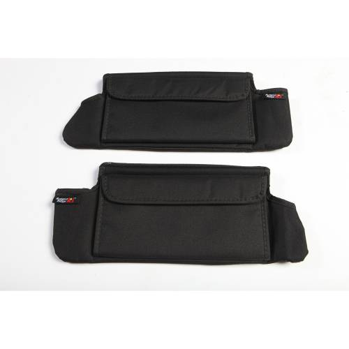 Rugged Ridge - Rugged Ridge Sun Visor Organizers, Black (2007-09) Jeep Wrangler JK