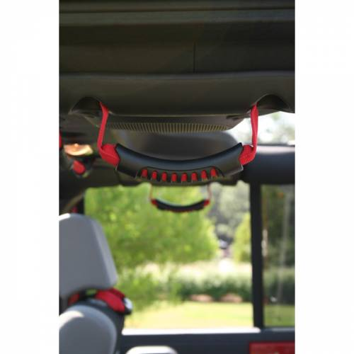 Rugged Ridge - Rear Side Grab Handles, Red; 07-15 Jeep Wrangler Unlimited JK