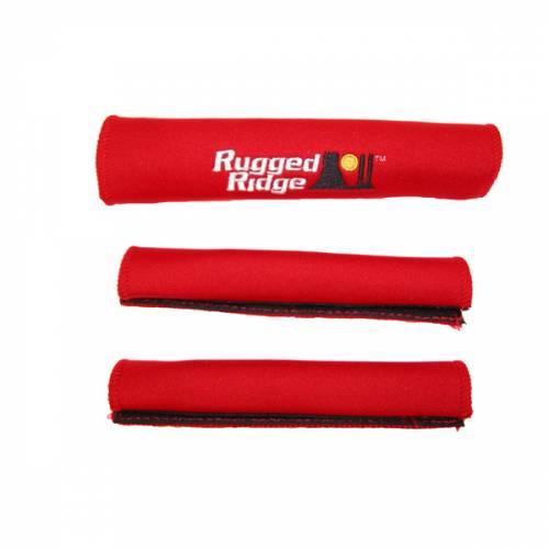 Rugged Ridge - Neoprene Door and Grab Handle Covers, Red; 87-95 Jeep Wrangler YJ