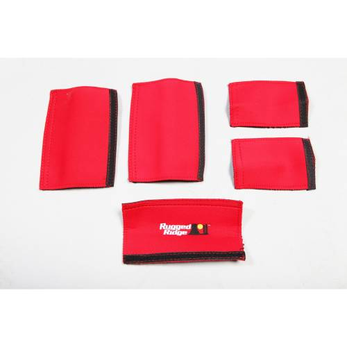 Rugged Ridge - Grab Handle Kit, Red; 07-10 Jeep Wrangler Unlimited JK