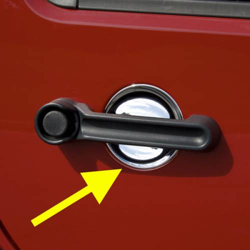 Rugged Ridge - Rugged Ridge Door Handle Recess Guards, Chrome (2007-15) Jeep Wrangler JK