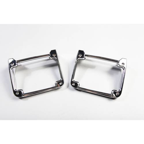 Rugged Ridge - Rugged Ridge Tail Light Covers, Chrome (2007-15) Jeep Wrangler JK