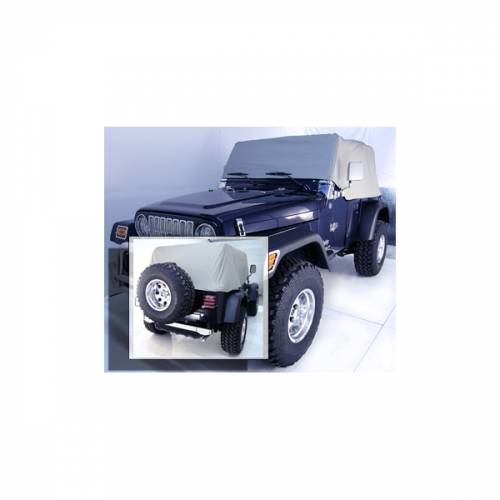 Rugged Ridge - Rugged Ridge Cab Cover, Gray (1992-06) Jeep Wrangler YJ/TJ