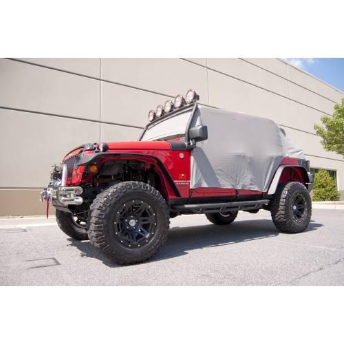 Rugged Ridge - Rugged Ridge Cab Cover, Gray (2007-15) Jeep Wrangler JK