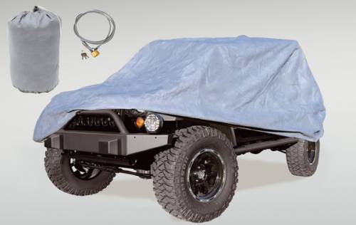 Rugged Ridge - Full Car Cover Kit; 81-86/04-15 Jeep CJ8/Wrangler Unlimited LJ/JK