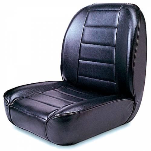 Rugged Ridge - Low-Back Front Seat, No-Recline, Black; 55-86 Jeep CJ Models