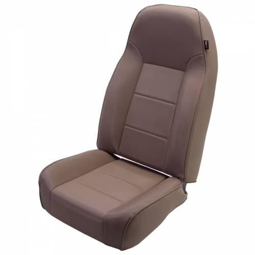 Rugged Ridge - High-Back Front Seat, No-Recline, Tan; 76-02 Jeep CJ/Wrangler YJ/TJ
