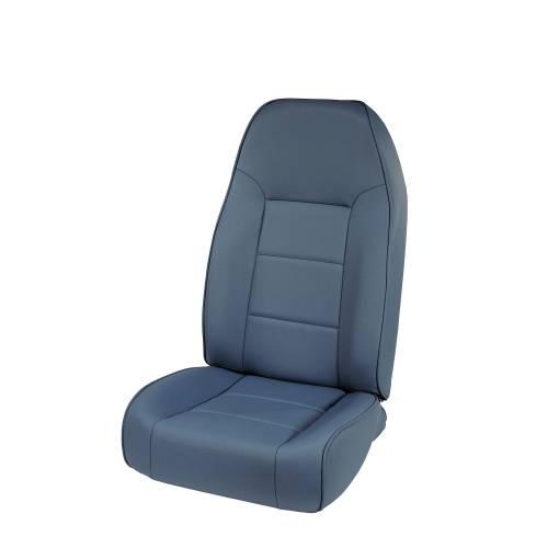 Rugged Ridge - High-Back Front Seat, No-Recline, Blue; 76-02 Jeep CJ/Wrangler YJ/TJ