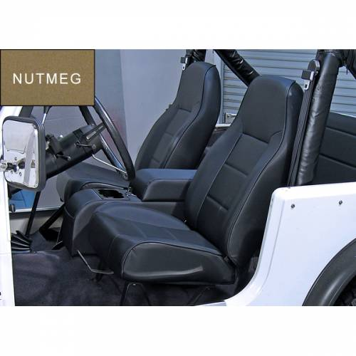 Rugged Ridge - High-Back Front Seat, No-Recline, Nutmeg; 76-02 CJ/Wrangler YJ/TJ