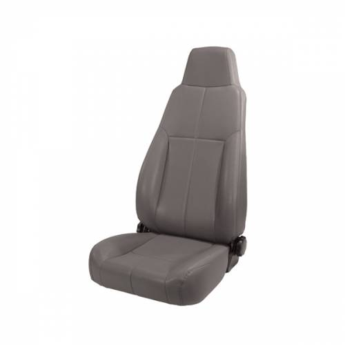 Rugged Ridge - High-Back Front Seat, Reclinable, Gray; 76-02 Jeep CJ/Wrangler YJ/TJ