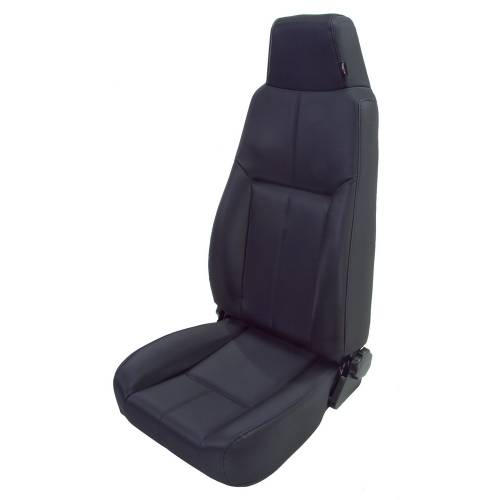 Rugged Ridge - High-Back Front Seat, Reclinable, Black Denim; 76-02 CJ/Wrangler YJ/TJ