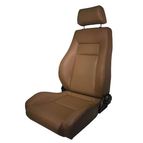 Rugged Ridge - Rugged Ridge Ultra Front Seat, Reclinable, Spice (1976-02) Jeep CJ/Wrangler YJ/TJ