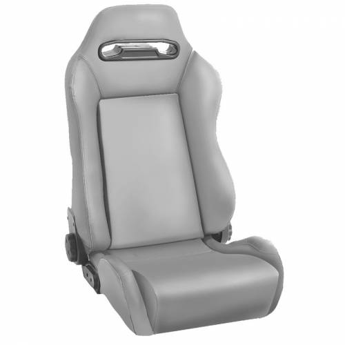 Rugged Ridge - Rugged Ridge Sport Front Seat, Reclinable, Gray (1976-02) Jeep CJ/Wrangler YJ/TJ