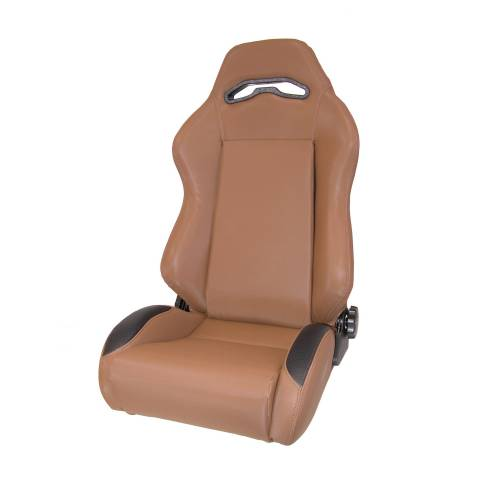 Rugged Ridge - Rugged Ridge Sport Front Seat, Reclinable, Spice (1976-02) Jeep CJ/Wrangler YJ/TJ