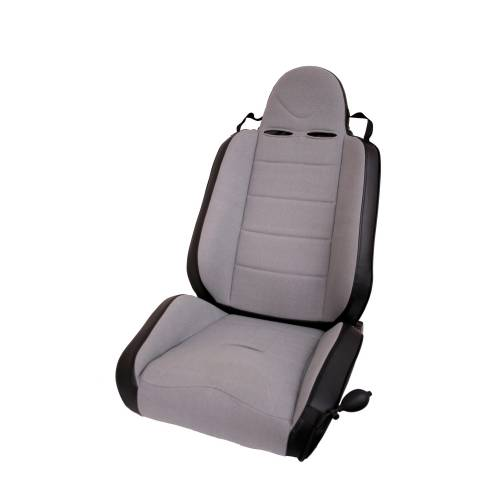 Rugged Ridge - RRC Off Road Racing Seat, Reclinable, Gray; 76-02 CJ/Wrangler YJ/TJ