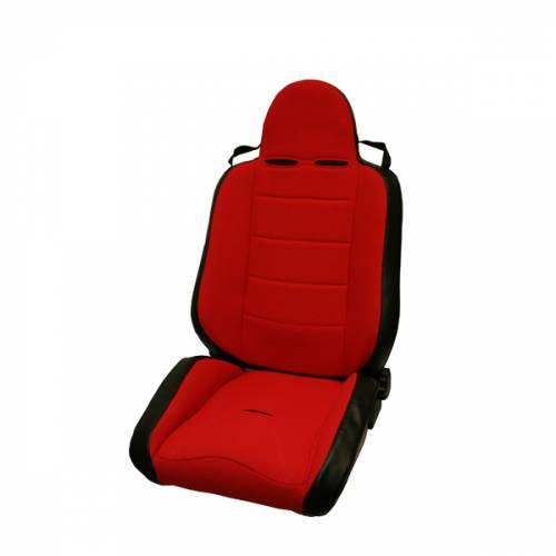 Rugged Ridge - RRC Off Road Racing Seat, Reclinable, Red; 76-02 CJ/Wrangler YJ/TJ