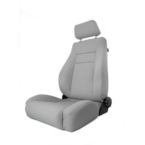 Rugged Ridge - Rugged Ridge Ultra Front Seat, Reclinable, Gray (1997-06) Jeep Wrangler TJ