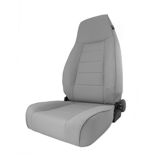 Rugged Ridge - High-Back Front Seat, Reclinable, Gray; 84-01 Jeep Cherokee XJ