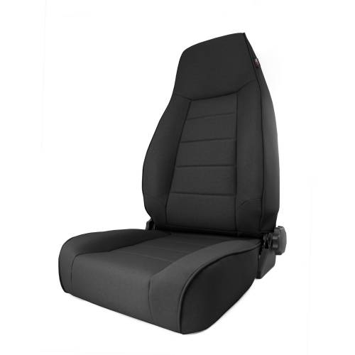 Rugged Ridge - High-Back Front Seat, Reclinable, Black Denim; 84-01 Jeep Cherokee XJ