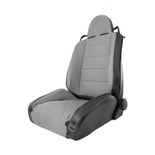 Rugged Ridge - RRC Off Road Racing Seat, Reclinable, Gray; 84-01 Jeep Cherokee XJ