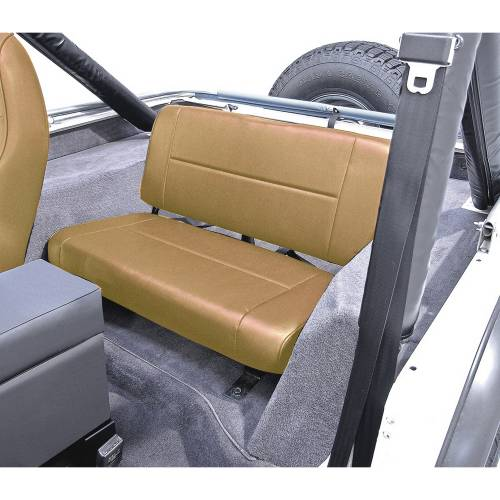 Rugged Ridge - Rugged Ridge Fixed Rear Seat, Tan (1955-95) Jeep CJ/Wrangler YJ