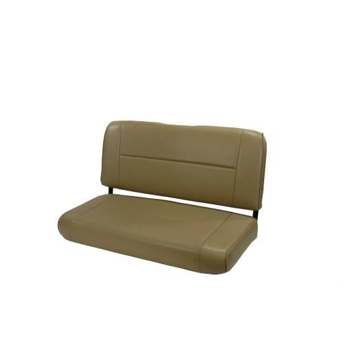 Rugged Ridge - Rugged Ridge Fixed Rear Seat, Nutmeg (1955-95) Jeep CJ/Wrangler YJ