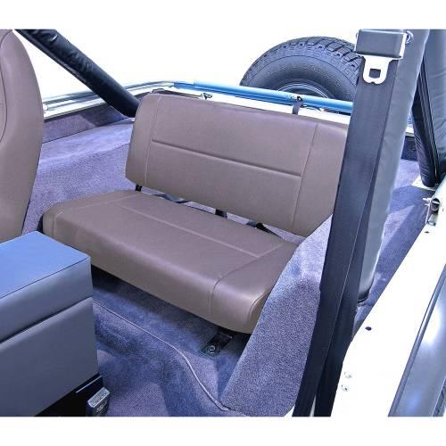Rugged Ridge - Rugged Ridge Standard Replacement Rear Seat, Gray (1955-95) Jeep CJ/Wrangler YJ