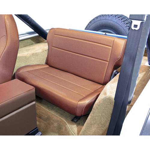 Rugged Ridge - Fold and Tumble Rear Seat, Tan; 76-95 Jeep CJ/Wrangler YJ