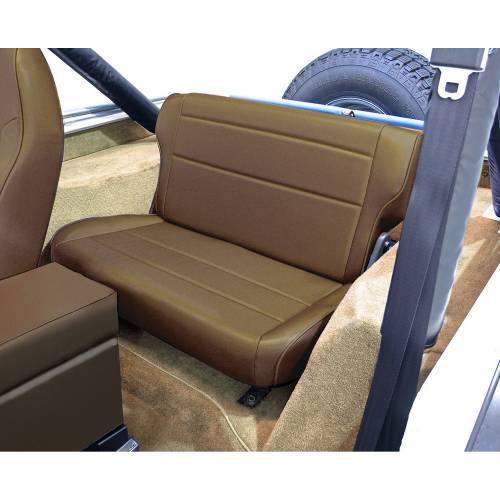 Rugged Ridge - Fold and Tumble Rear Seat, Nutmeg; 76-95 Jeep CJ/Wrangler YJ