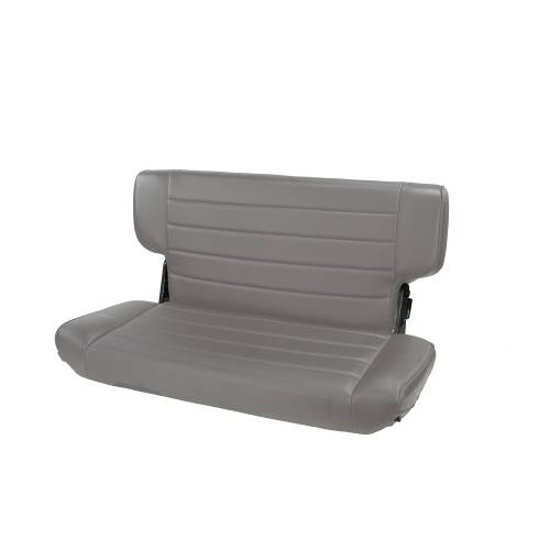 Rugged Ridge - Fold and Tumble Rear Seat, Gray; 97-02 Jeep Wrangler TJ